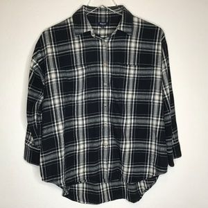 Madewell Flannel Top 3/4 Sleeves